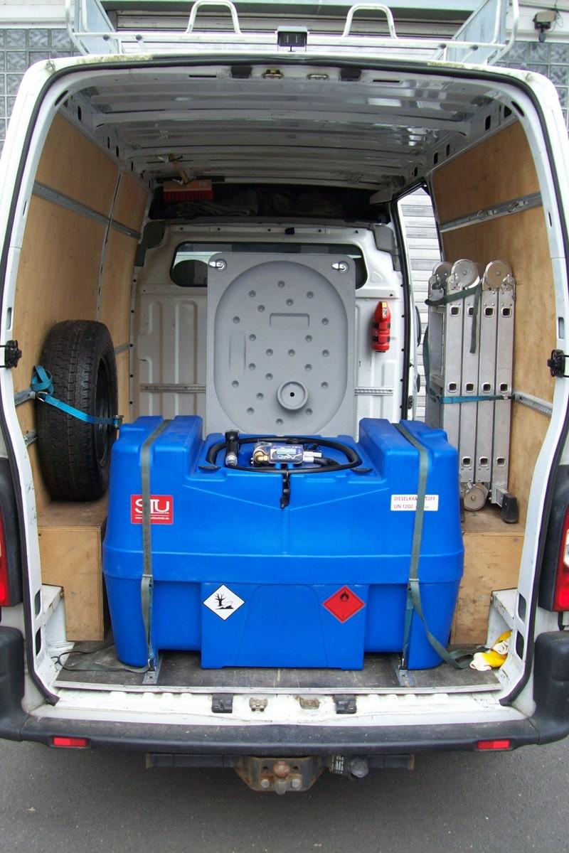 mobile diesel tankstelle 400 l mit 12v pumpe z hlwerk ebay. Black Bedroom Furniture Sets. Home Design Ideas